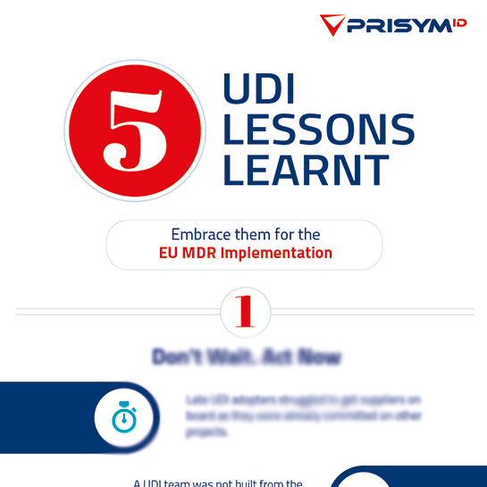UDI Lessons Learnt for EU MDR