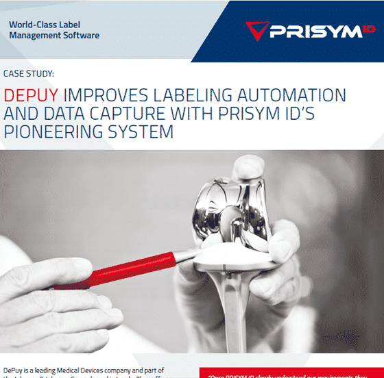 Depuy - DePuy Improves Labeling Automation and Data Capture with Pioneering System