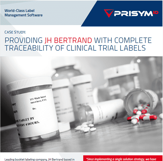 JH Bertrand - Providing JH Bertrand With Complete Traceability Of Clinical Trial Labels