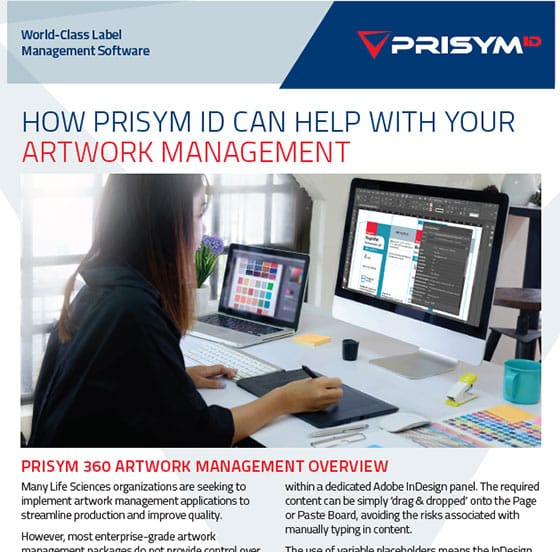 Artwork Management Datasheet - How PRISYM ID can help with your Artwork Management